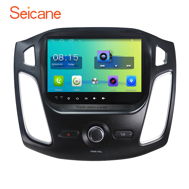 Seicane Android 6.0 HD 2012-2015 için Araba Radyo GPS Navigasyon Bluetooth USB 3G WIFI ile Ford Focus Ayna Bağlantı 1080 P Video