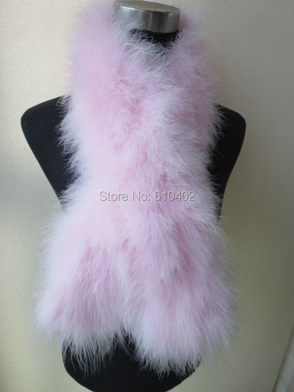 / Real ostrich feather fur Wrap fashion scarf//pink