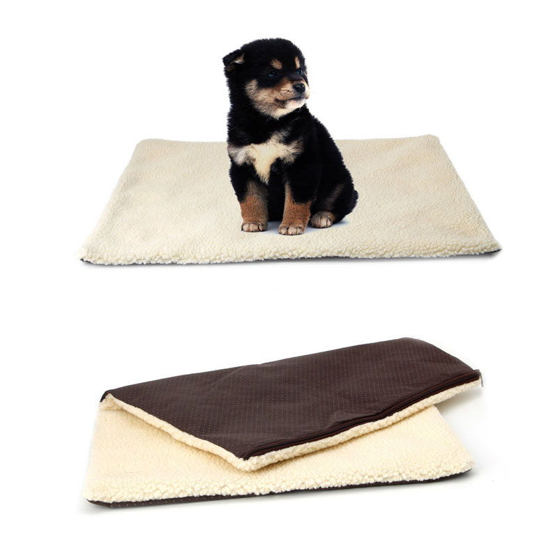 New Self Heating Cat Dog Pet Bed Cushion Pet Thermal Warm Fleece Rug Mattress Super Sheepskin
