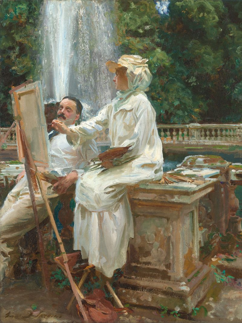 Classical figurative painting canvas portrait art poster beauty picture Sargent riverside painter scenery portrait home decor