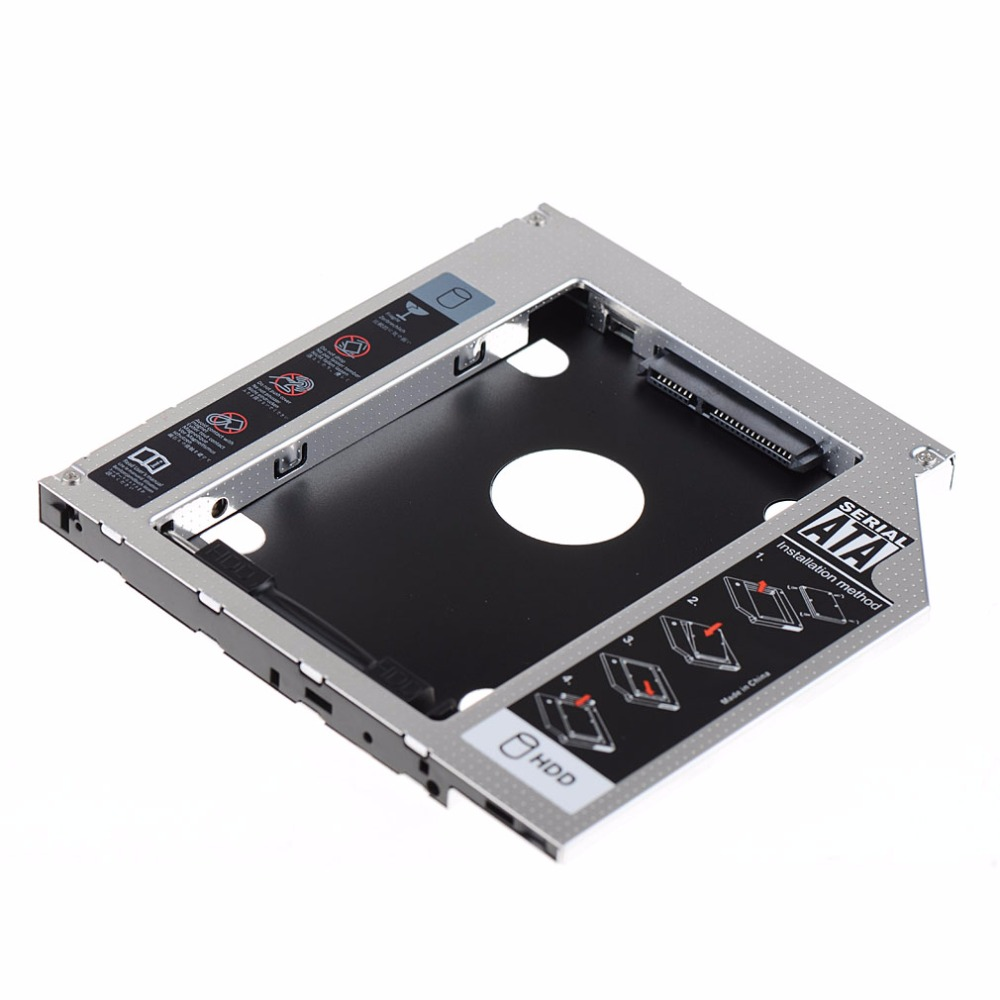 Bezel ile 2nd HDD SSD Sabit Disk Caddy Hp ZBook 15 ZBook 17